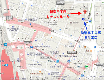 新形式TOEIC対策の英語レッスン新宿三丁目アクセス地図
